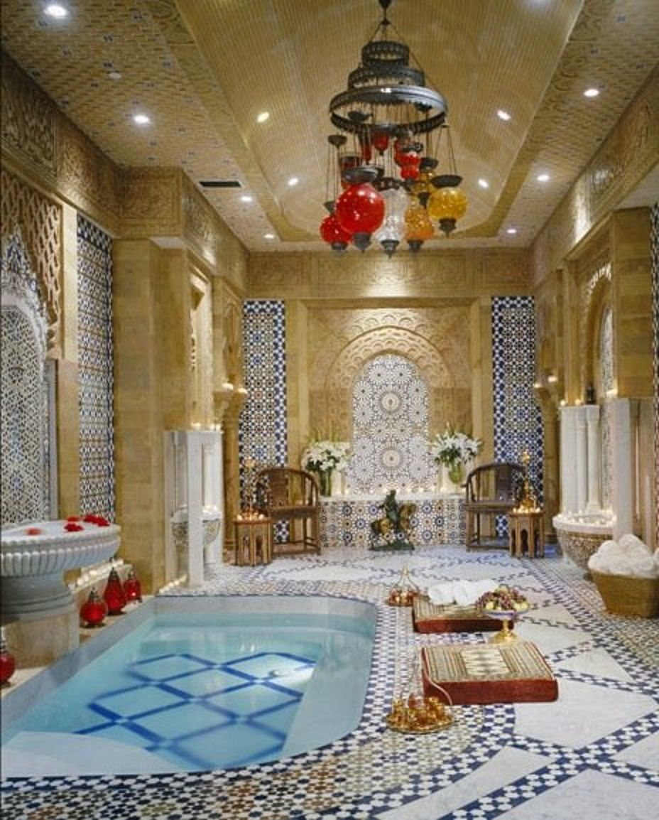 Bathroom Le Belvedere Los Angeles California This Is An Elaborate Turkish Bath With Hand Carved Egyptian Limeston European Home Decor Bel Air Mansion Home