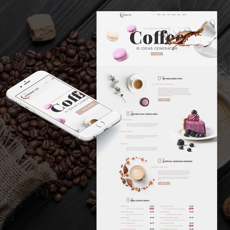 Coffee Shop Website Template For Cafe Website Coffee Cafe Webdesign Cafe Website Coffee Shop Website Coffee Shop