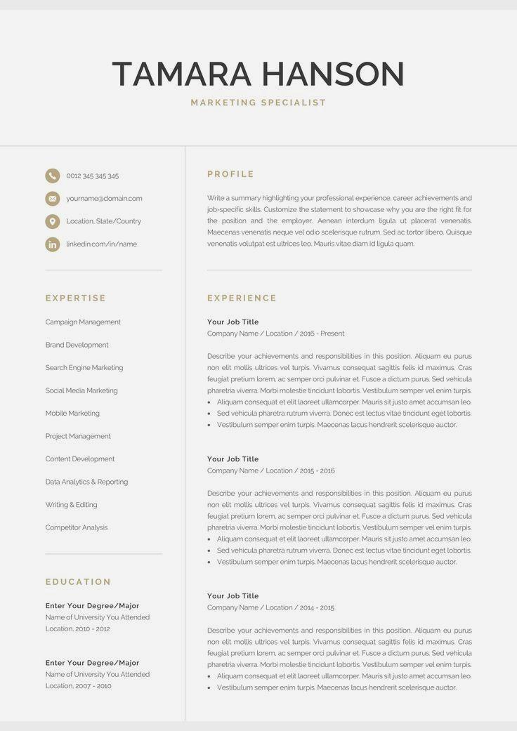 Easy job skills in 2020 Modern resume template, Resume
