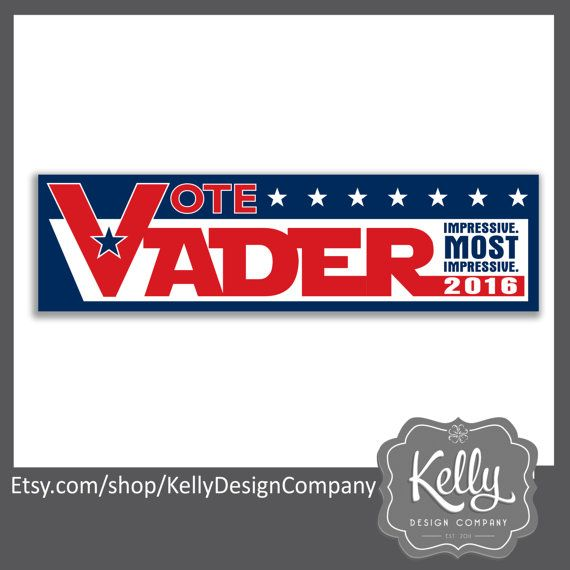 Vader 2020 bumper sticker star wars election decal impressive most impressive political humor the dark side 2020