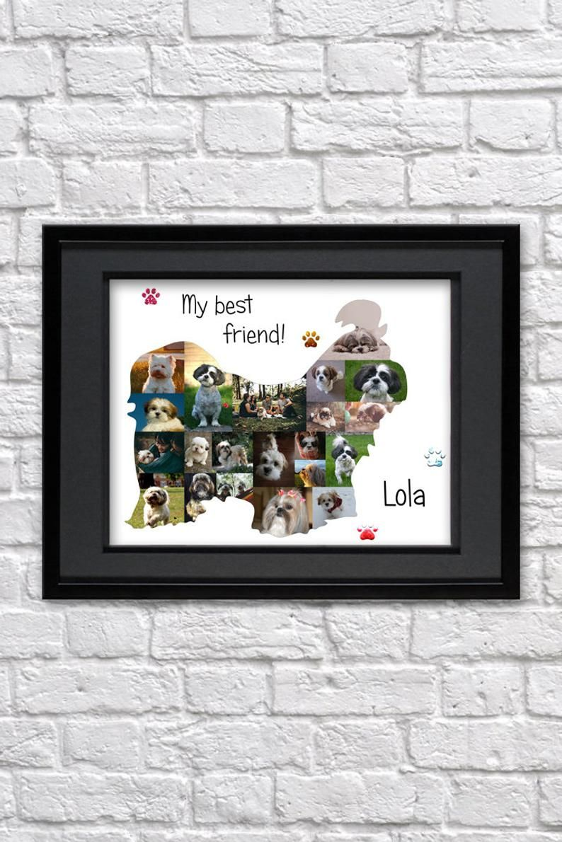Shih tzu gift Dog lover christmas gift for dad Shih tzu art | Etsy