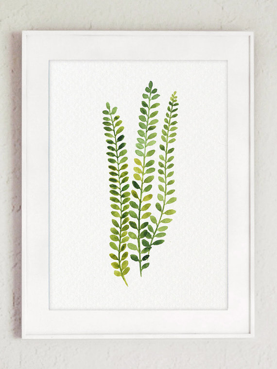 fern print set 12 ferns watercolor painting green botanical kitchen wall decor abstract floral living room art dining room illustration is part of Watercolor decor - Fern Print set 12 Ferns Watercolor Painting, Green Botanical Kitchen Wall Decor, Abstract Floral Living Room Art, Dining Room Illustration Natureart Green