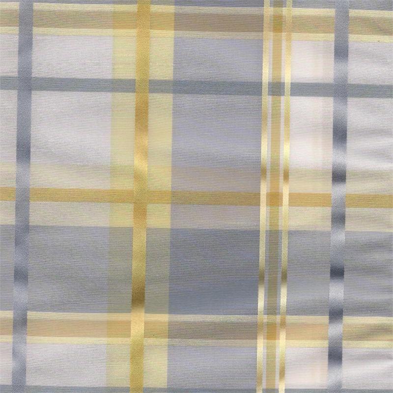 Cologne Blue Fog Plaid Fabric For Custom Window Treatments