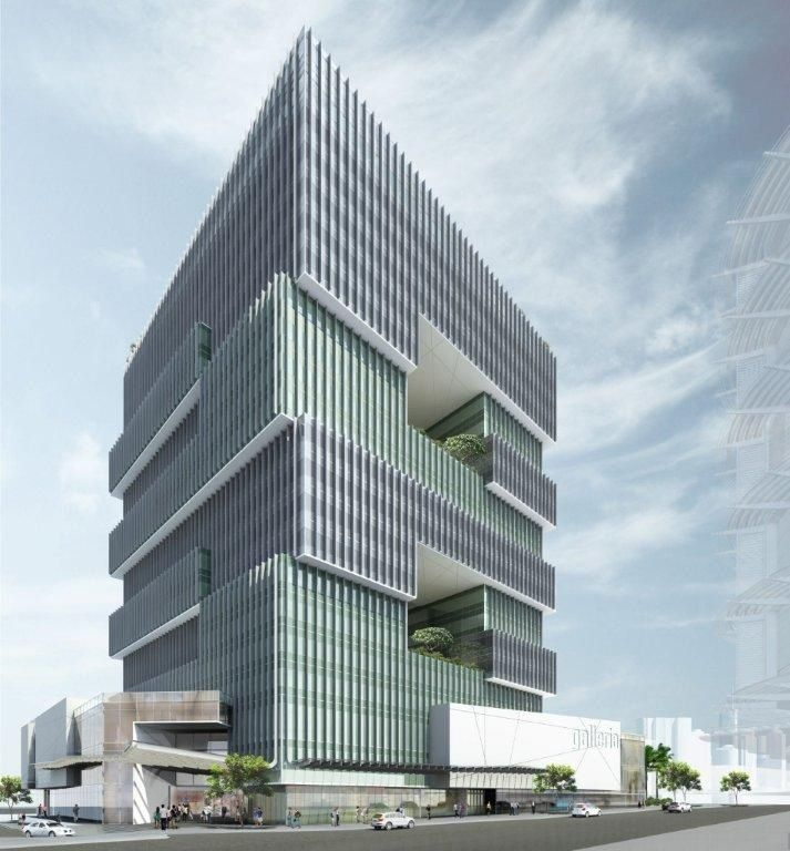 Corporate office tower brisbane naveen dath cottee for Office design brisbane