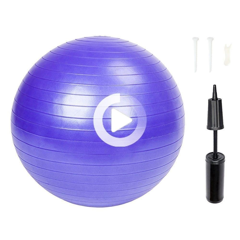 Exercise Ball, Exercise Workout Yoga Ball for Yoga Fitness, Purple, Li