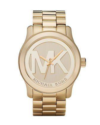 f9ab41e7d2cde Michael Kors Quartz Goldtone Bracelet Champagne Dial Women s Watch MK5473   211.90