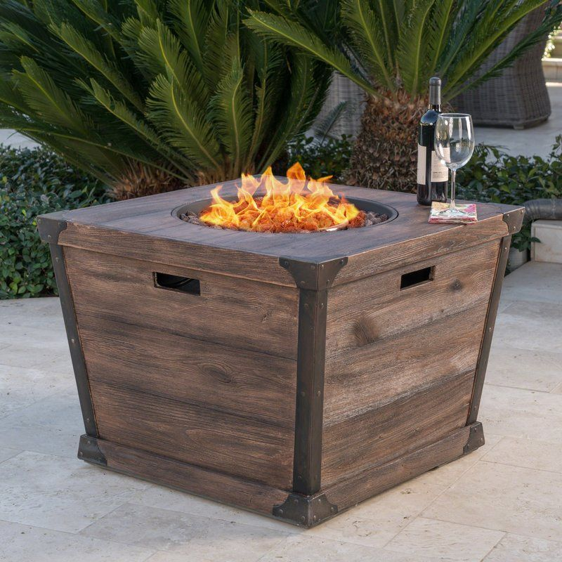 17 Stories Coomes Stone Propane Fire Pit Table Reviews Wayfair