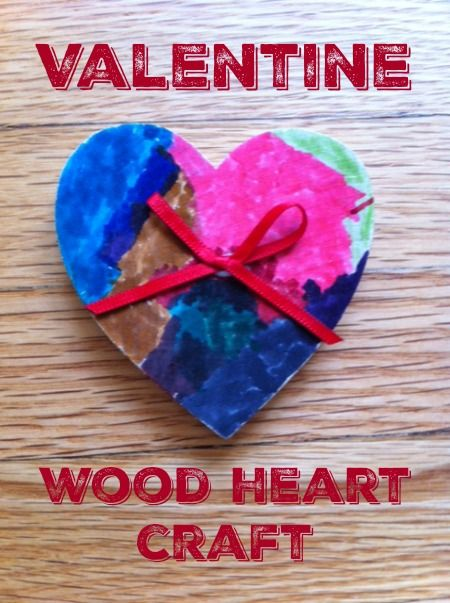 This Wood Valentine Heart Craft Is A Fun Valentines Project For