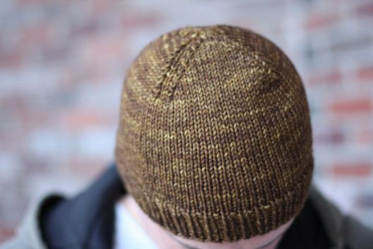 2913fe3d4 Free Knitting Pattern - Hats  Nice   Knit Beanie Size 8 needles ...