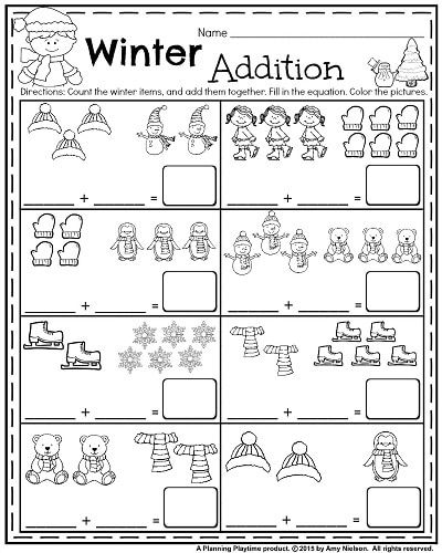 January Kindergarten Worksheets Winter Math Worksheets Kindergarten Math Worksheets January Kindergarten Worksheets