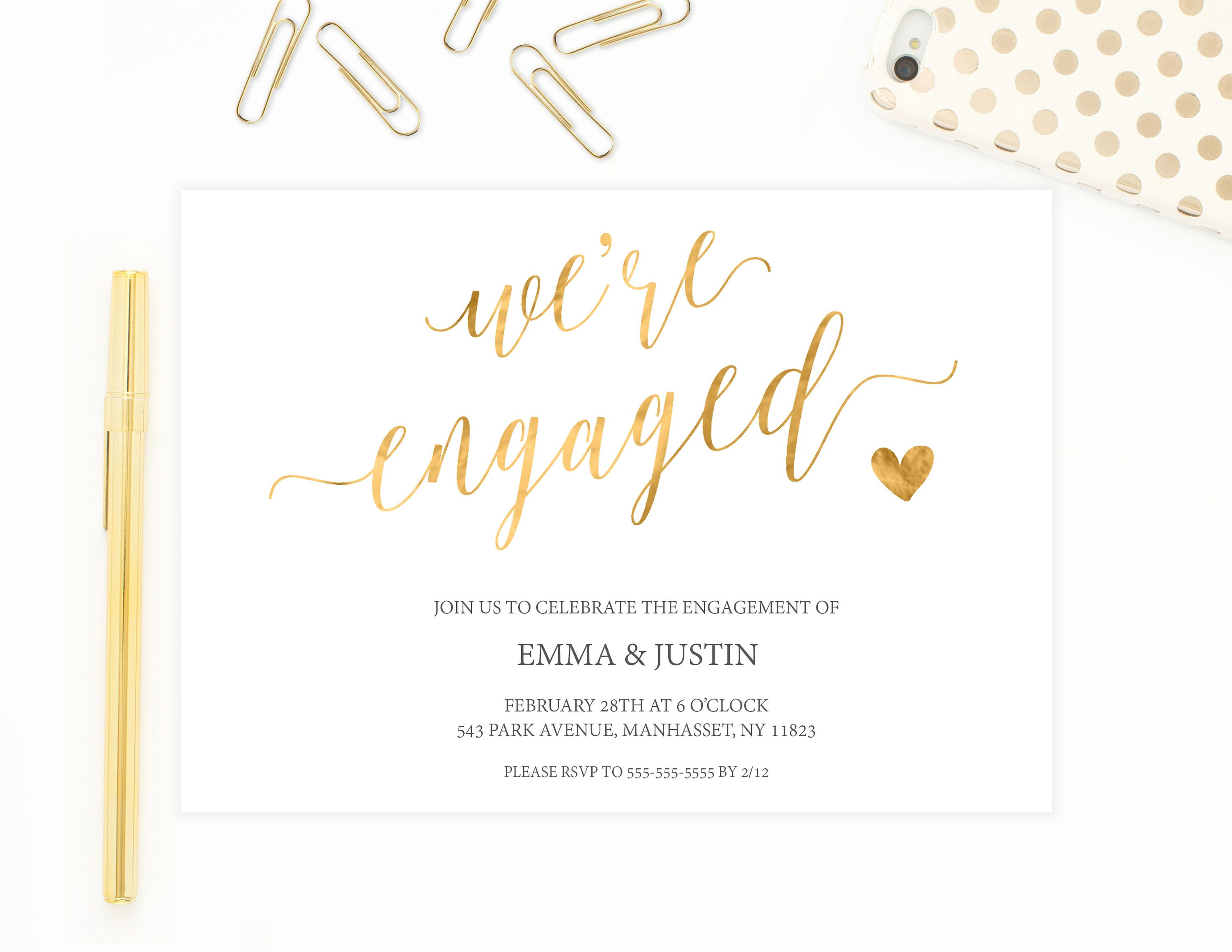 Engagement Party Invitation, Engagement Party Invitation Printable ...