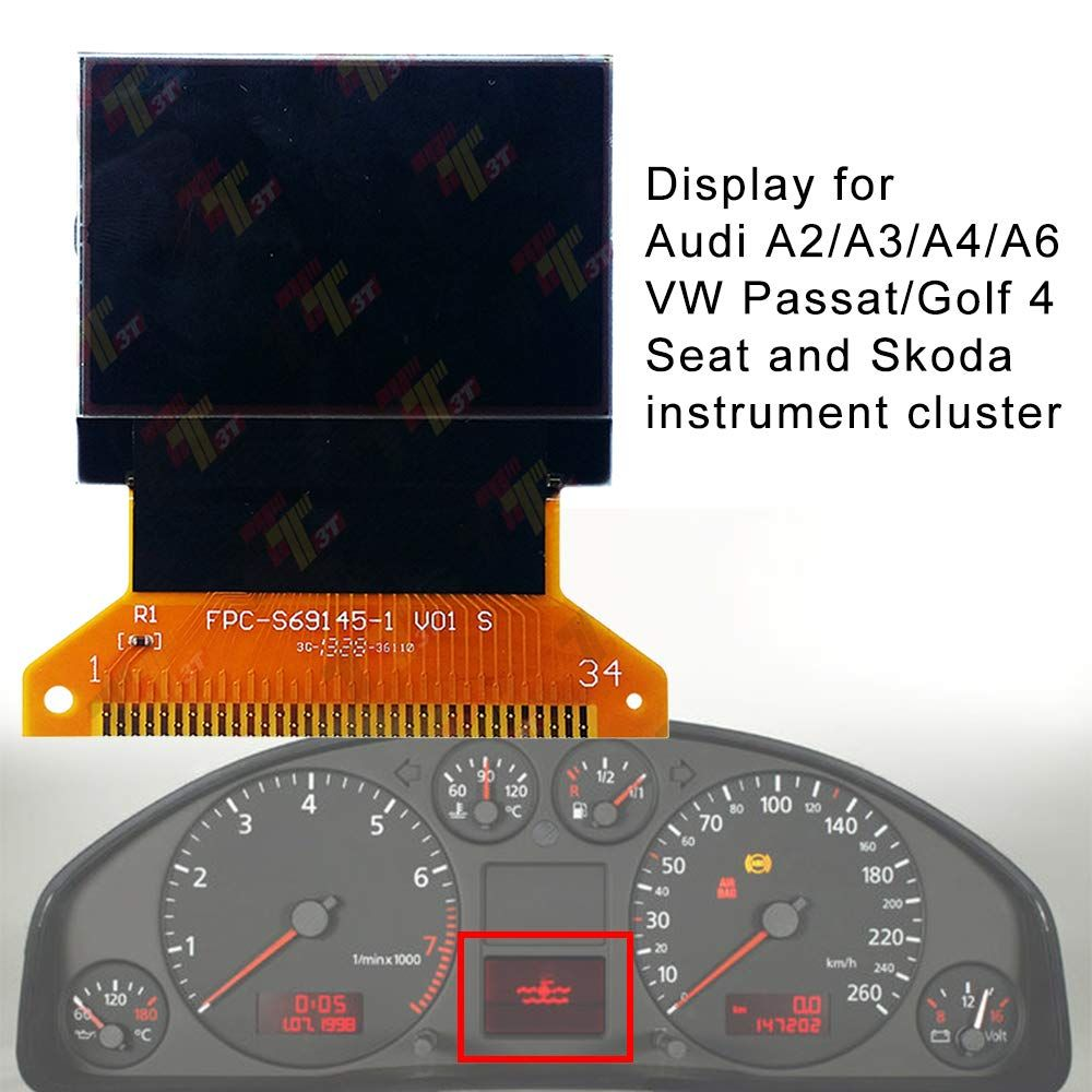 Audi A2 A3 A4 A6 Vw Passat Golf 4 Seat And Skoda Lcd Instrument