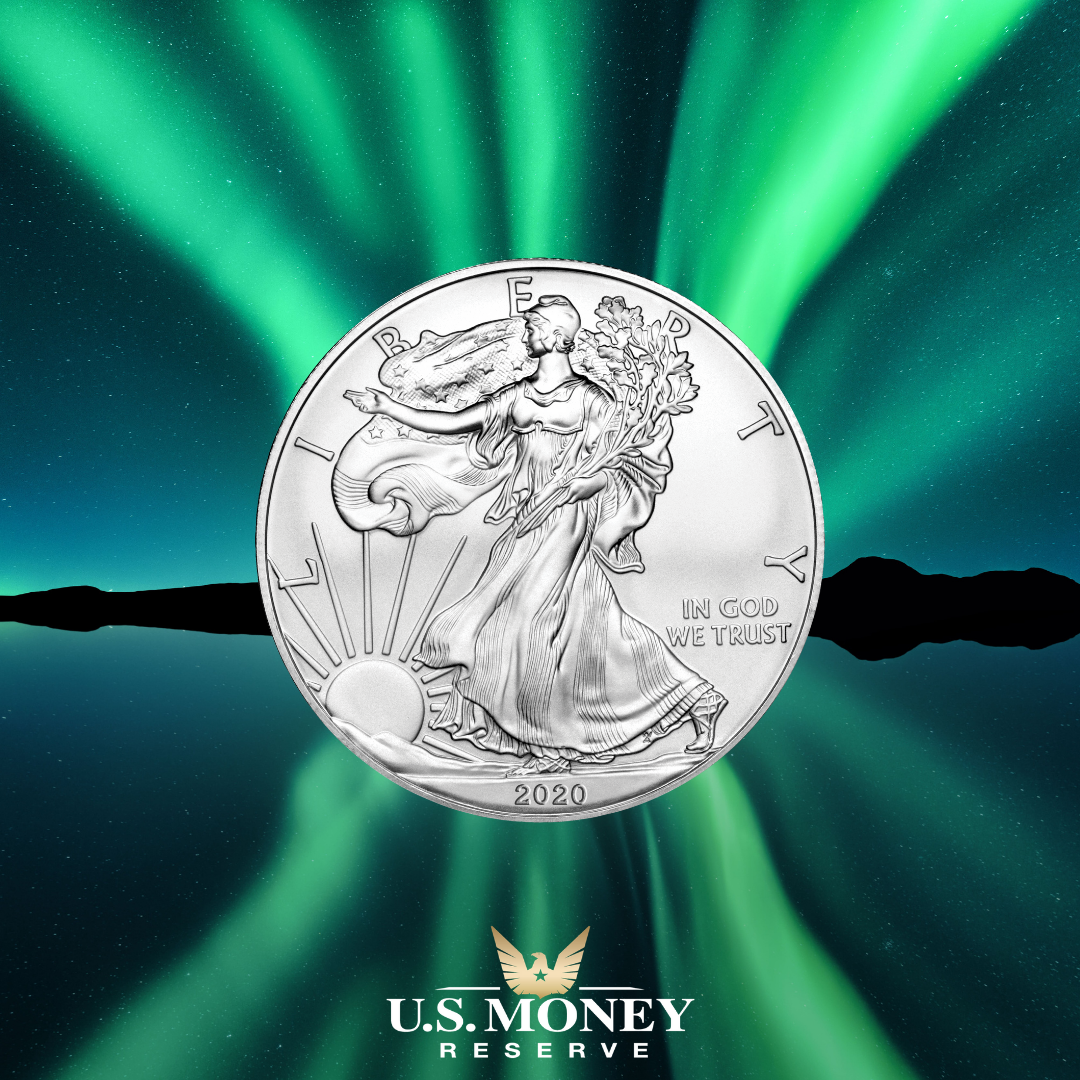 Buy Silver Eagles 1 Oz Silver American Eagle U S Money Reserve In 2020 Silver Bullion Coins Eagle Coin Gold And Silver Coins