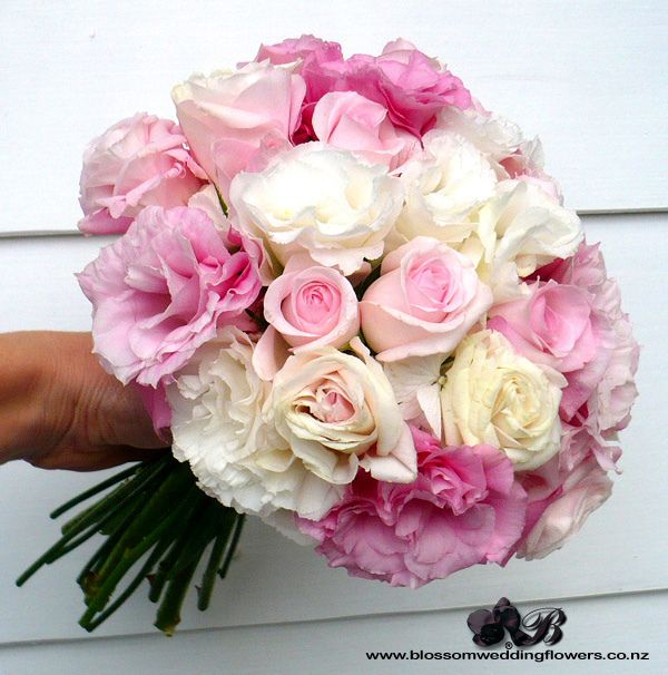 Pink Rose Lisianthus Hydrangea Rose Wedding Bouquet Hydrangea Bouquet Wedding Wedding Flowers Hydrangea