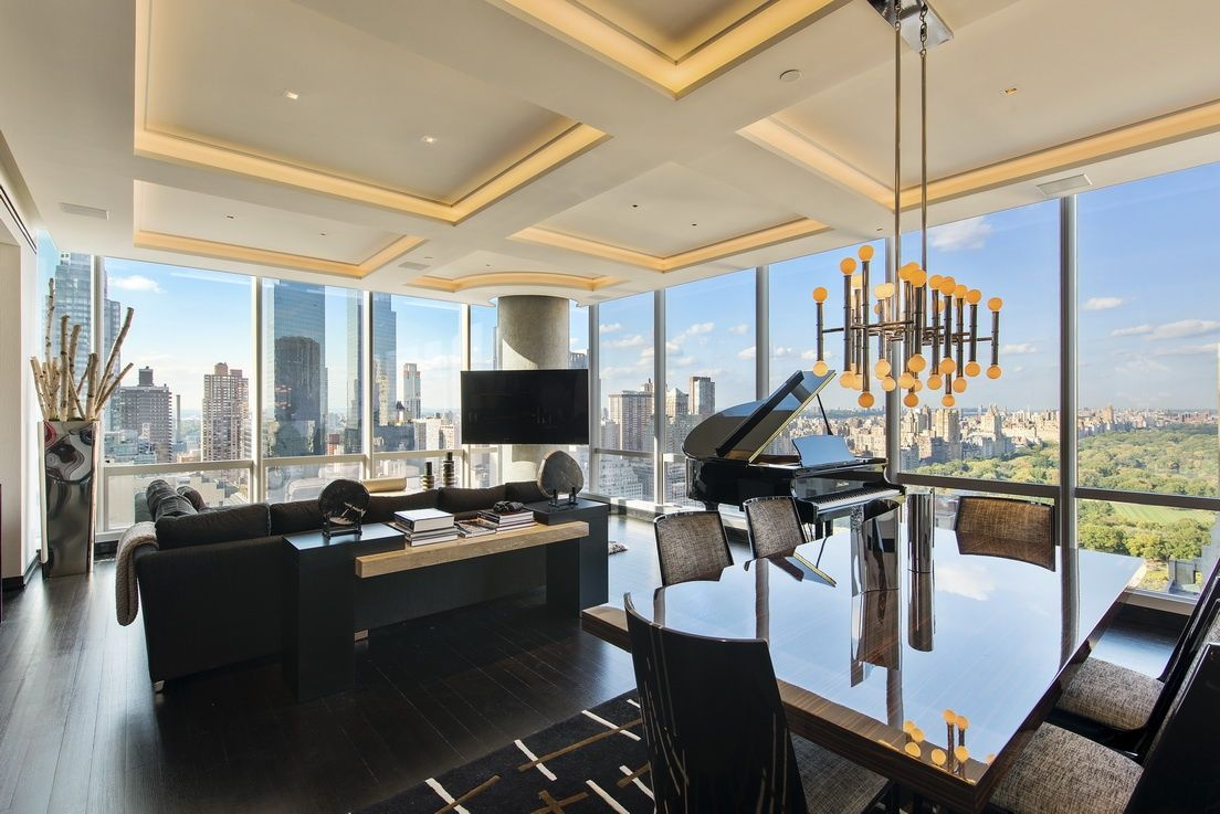 Corner 2 Bedroom, 2.5 Bathroom Central Park View Stunner at ONE57 2 BR for  sale, Midtown West apartment sales 157 West 57th Street in Manhattan | Nest  ...