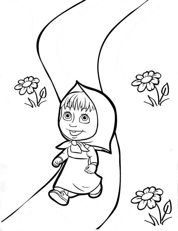 Masha E Urso Bear Boomerang Desenhos Imprimir Colorir Pintar 6