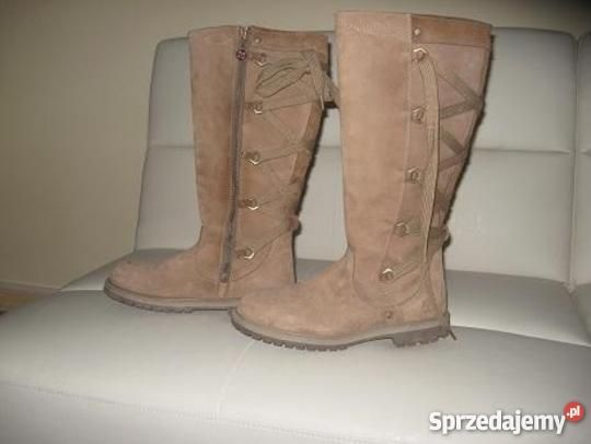Kozaki Timberland Skora Naturalna Okazja Okazje Timberland Boots Knee Boots Combat Boots