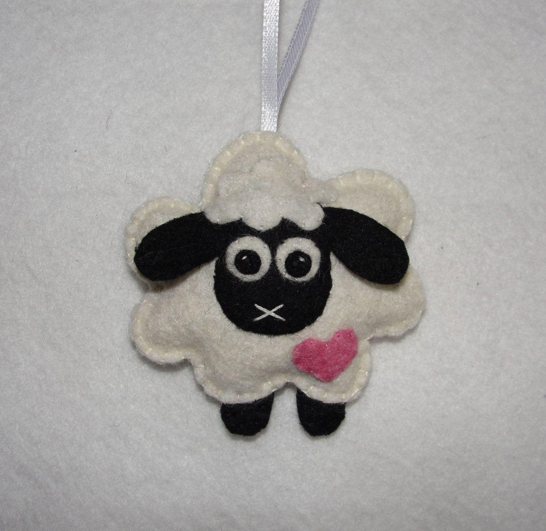 Wool felt ornaments - Cheerful Wool Felt Sheep Ornament Lamb Ornament Easter Decor Spring Decor Housewarming