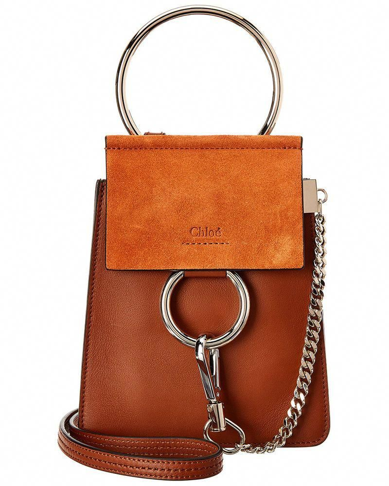 decd79be4 Chloe Faye Small Suede & Leather Bracelet Bag, Brown | Clothing, Shoes &  Accessories