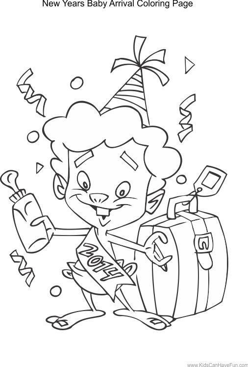 New Years Coloring Pages Http Fullcoloring Com New Years