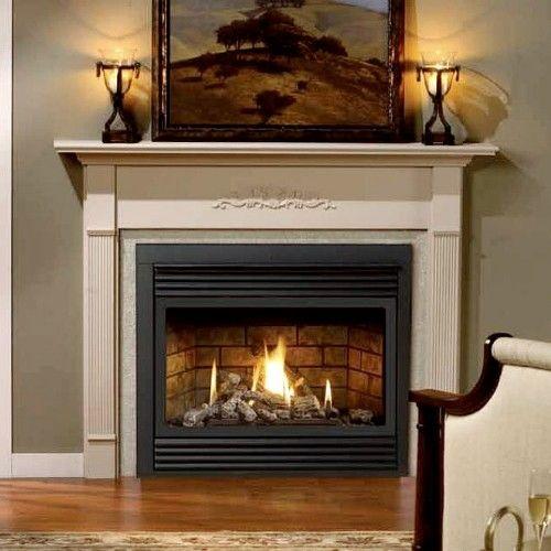 Kingsman Zero-Clearance Direct Vent Gas Fireplace Heater ...