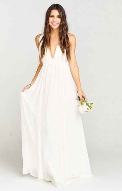 Ava Maxi Dress Wedding Cake Chiffon You Know That Always Happens To Somebody