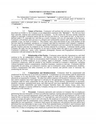 Download Independent Contractor Agreement   House