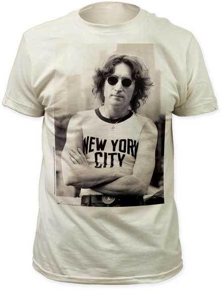 Mens John Lennon Wearing NYC Shirt Tee Shirt - Thatsmyshirt.com 085fad8679b