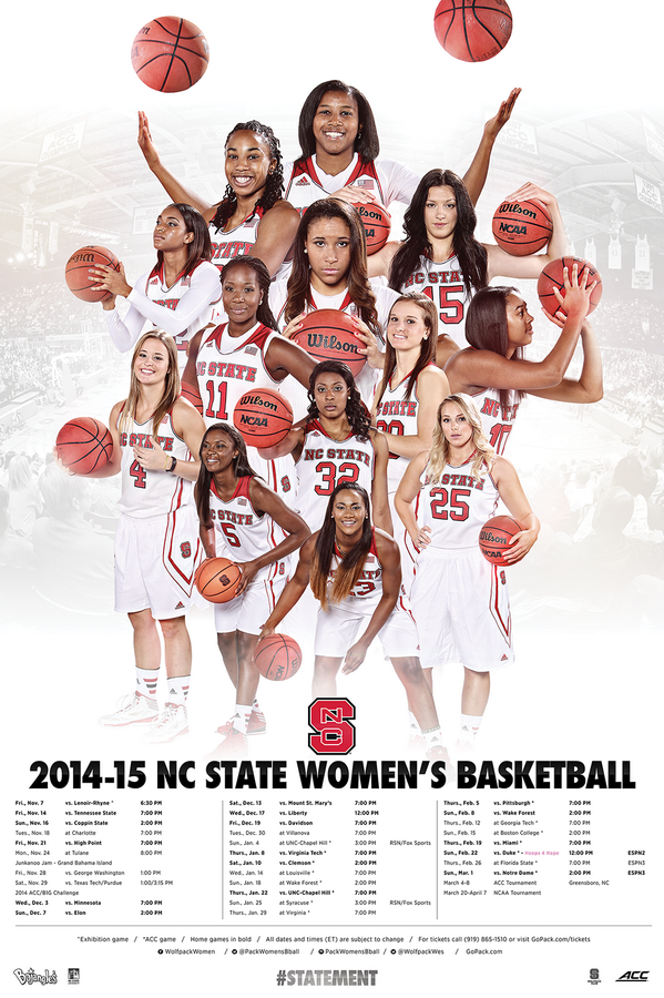 Nc State Wbb Basketball Posters Womens Basketball Basketball Team Pictures
