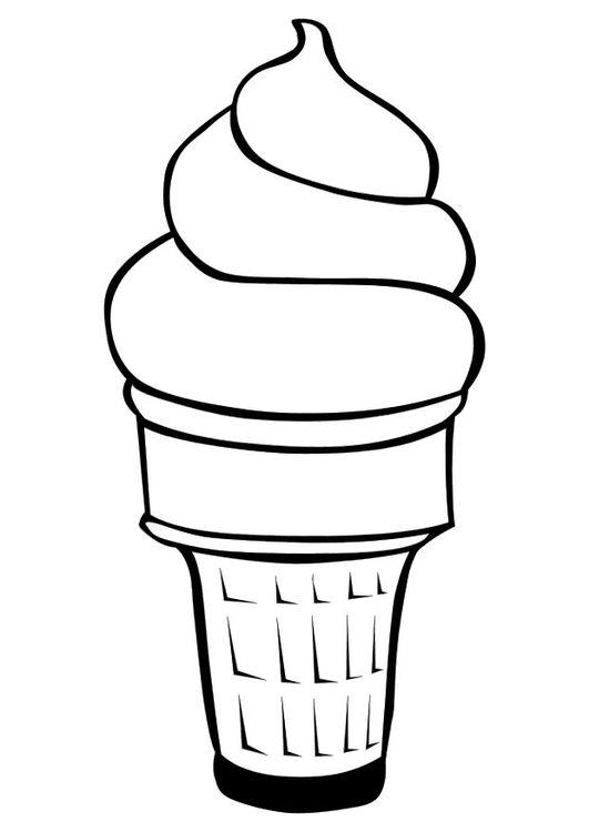 Malvorlage Eiscreme Ausmalbild 10116 Ice cream