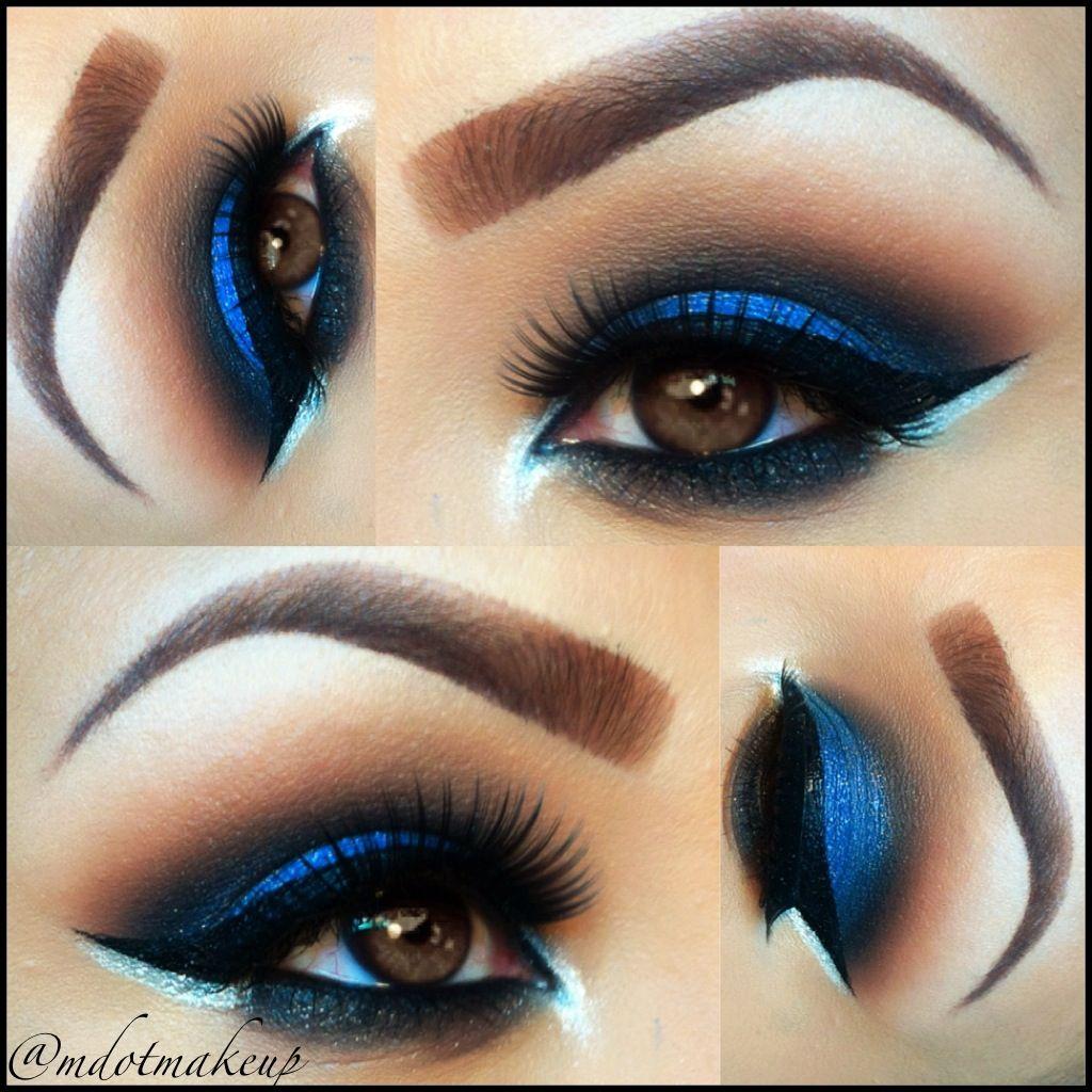 Electric Blue Smokey Eye Makeup by Michelle Dotdot
