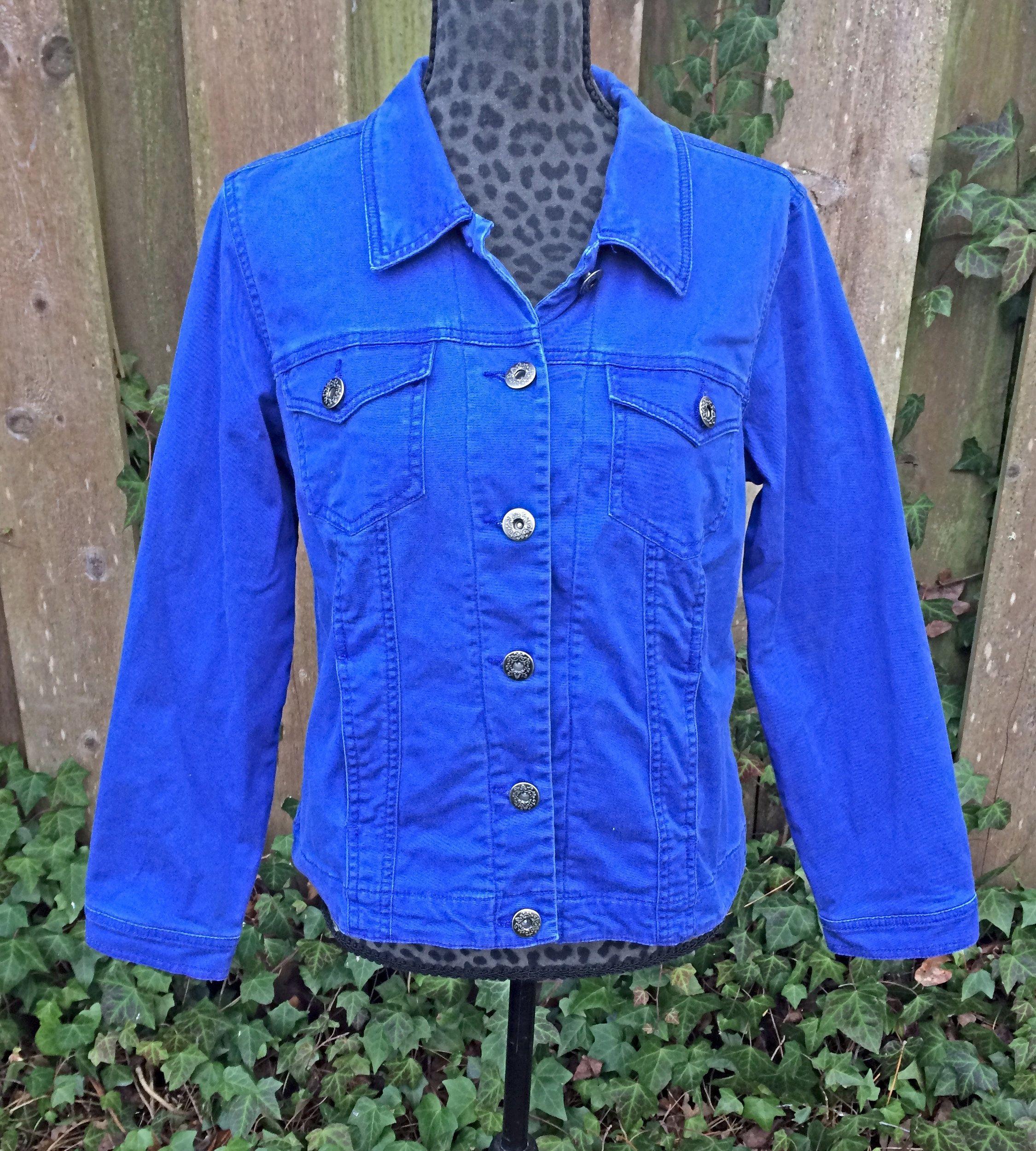 Women S Blue Jean Jacket Vintage Royal Blue Jean Jacket Ladies Blue Coat Blue Jacket True Blue Utilit Blue Jean Jacket Royal Blue Jeans Vintage Jacket [ 2500 x 2250 Pixel ]