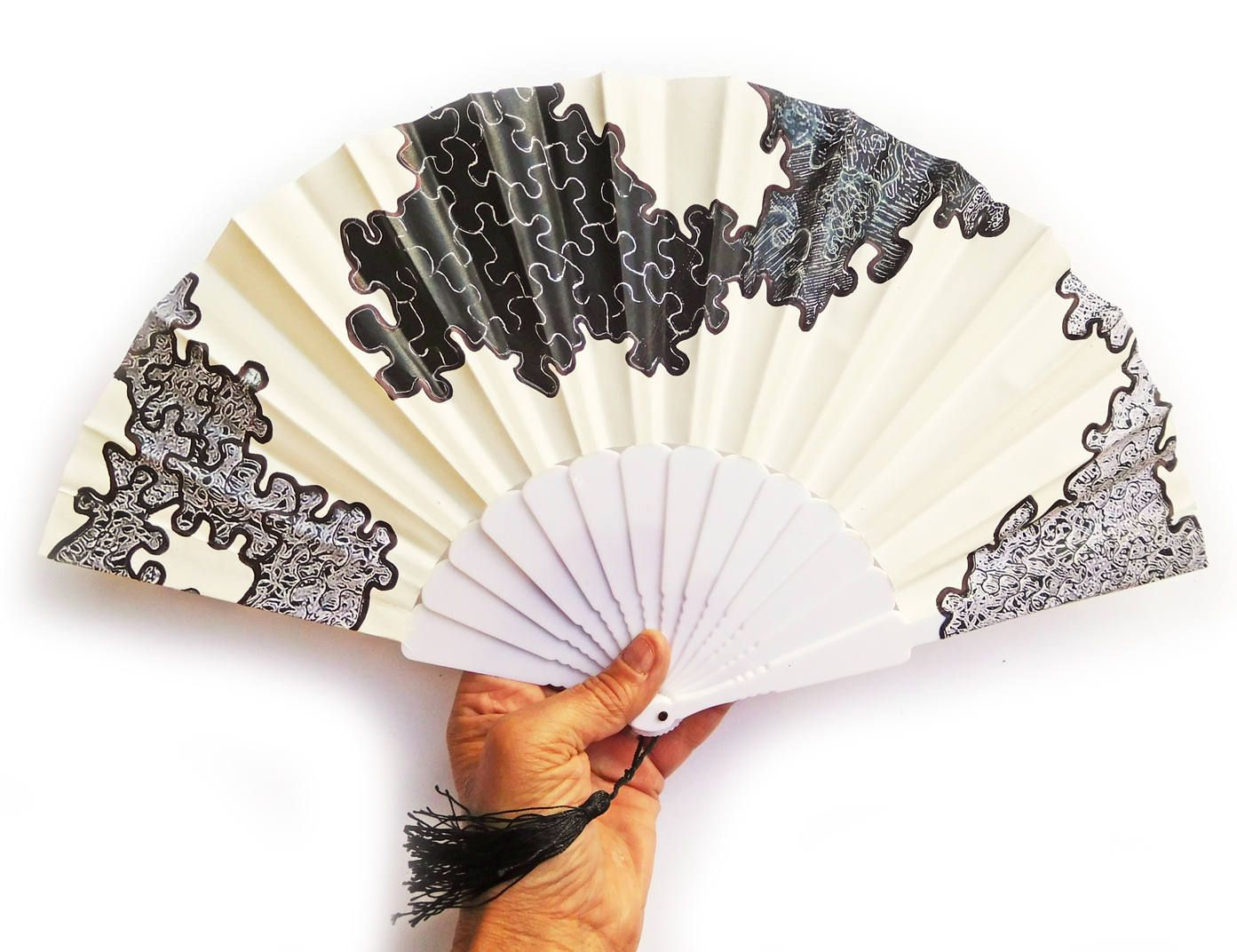 Hand Painted Folding Fan Unique Wedding Party Galentines Boho Party ...