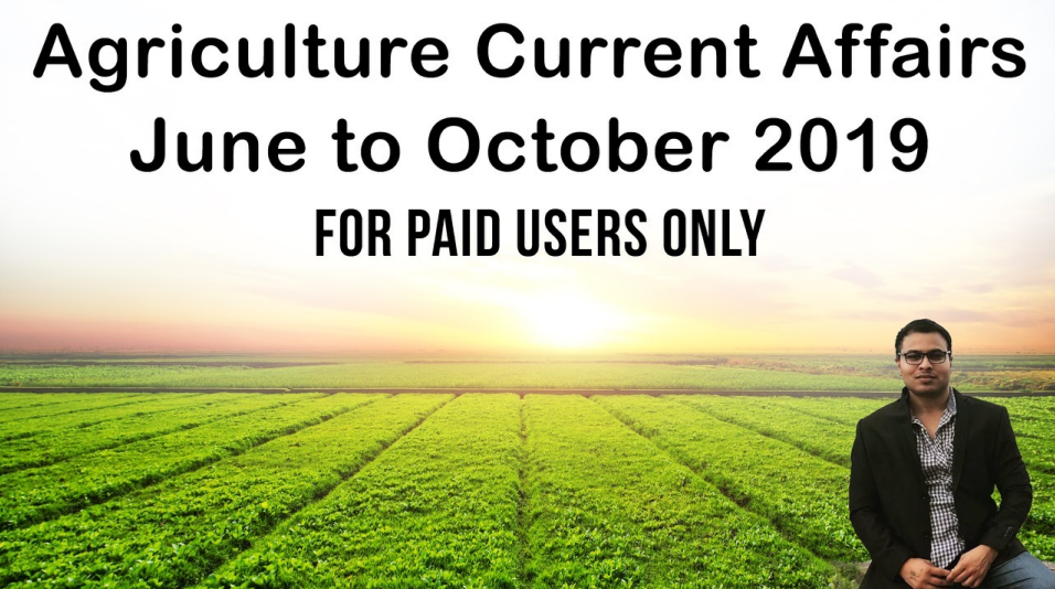 Agriculture Current Affair January To October 2019 Free
