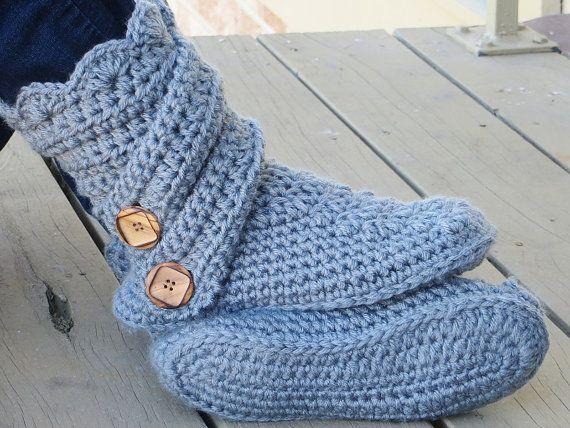 Crochet Slipper Pattern, Boots Crochet Pattern, Crochet house ...