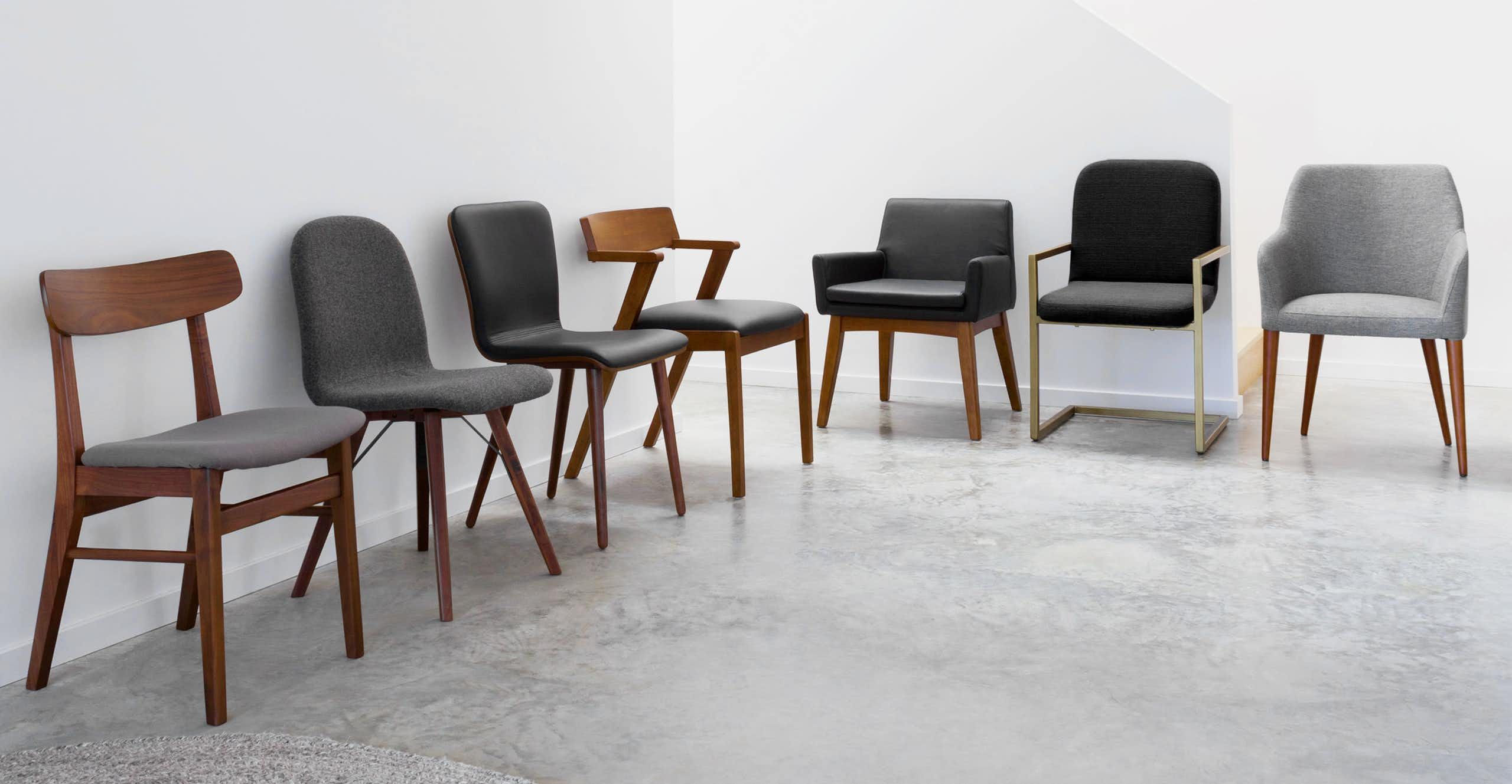 The Alchemy Chairs Brushed Gold Metal Frame And Comfortably Padded