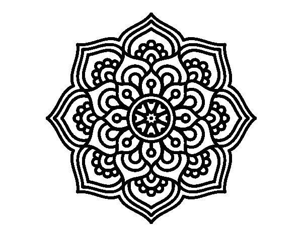 dibujo de mandala flor de la para colorear