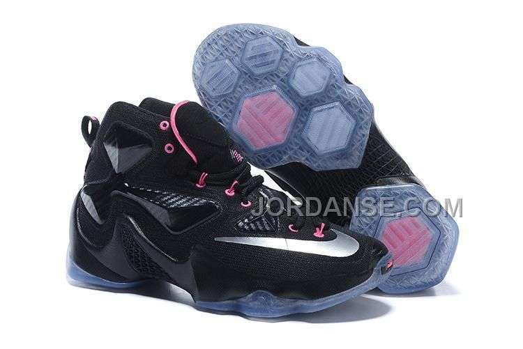 2016 Nike Men's Basketball Sneakers Lebron 13 Black Silver Pink