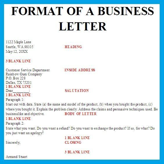 Proper Letter For Pertaining Business Format Spacing Resume With