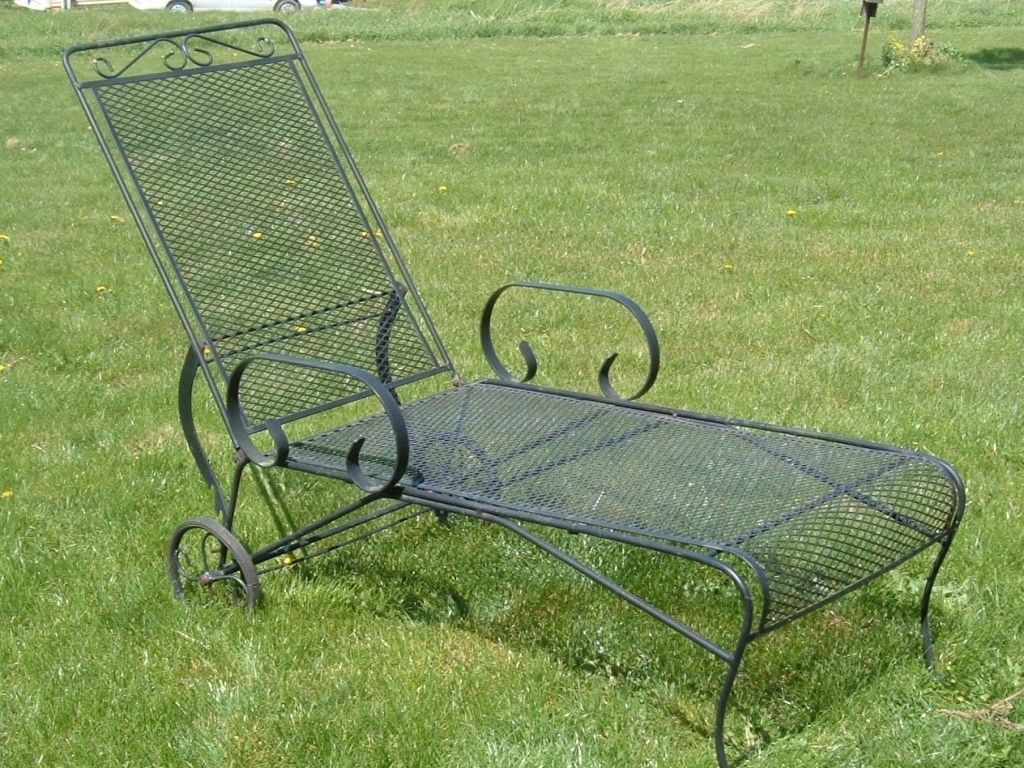 Image Result For Vintage Wrought Iron Chaise Lounge Lounge Chair