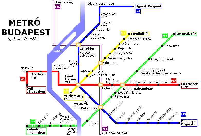 Budapest Map   Budapest City Map, Subway Map and District Map