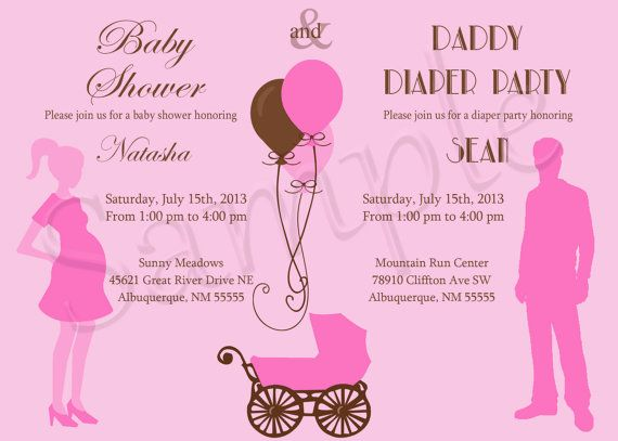 Baby Shower And Diaper Party Invitation