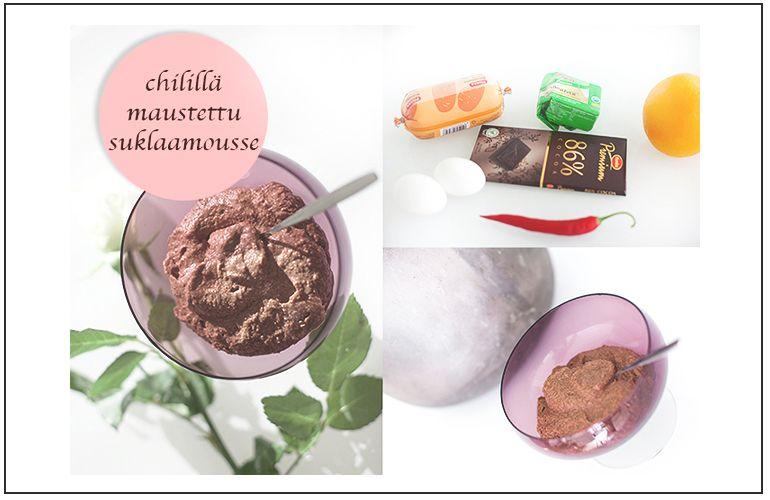 Chilillä maustettu terveellinen suklaamousse