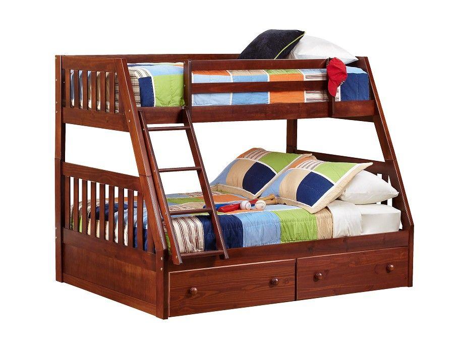 slumberland knollwood collection chocolate tw fl bunk Slumberland Bunk Beds id=66655