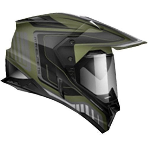 Zoan Synchrony Duo Tourer Green Graphic Dual Sport Motorcycle Riding Helmet