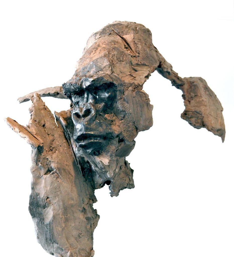 gorilla gorille sculpture gambino terre cuite patin e tr pinterest tr og dyr. Black Bedroom Furniture Sets. Home Design Ideas
