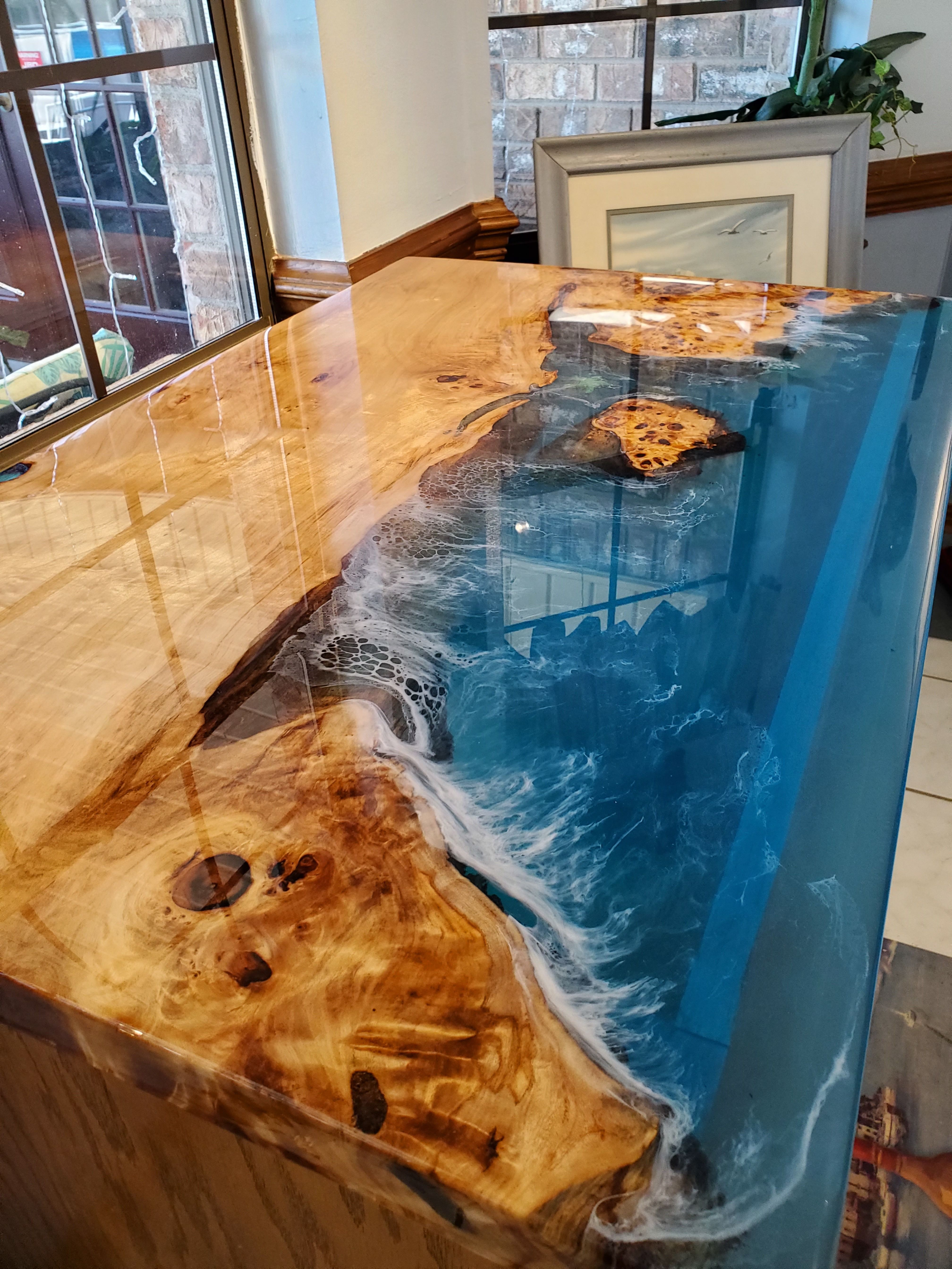 Ocean View Cottonwood Burl River Table Types Of Wood Live Edge