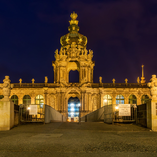 Dresden Germany May 23 2018 Kronentor Of The Zwinger In Dresden At Night The Name Zwinger Derives From The In 2020 Stock Images Free Gate Images Stock Market