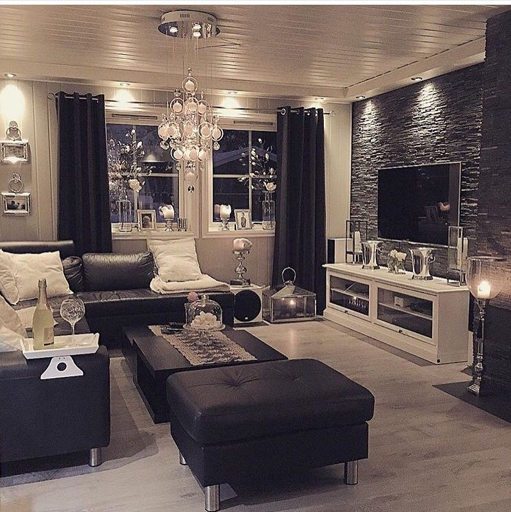 Black And Gray Luxury Living Room Home Living Room Designs
