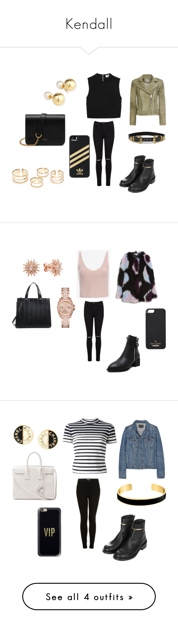 """""""Kendall"""" by model-squad ❤ liked on Polyvore featuring Elizabeth and James, IRO, Miss Selfridge, Topshop, B-Low the Belt, Mulberry, adidas, Exclusive for Intermix, Michael Kors and MaxMara"""